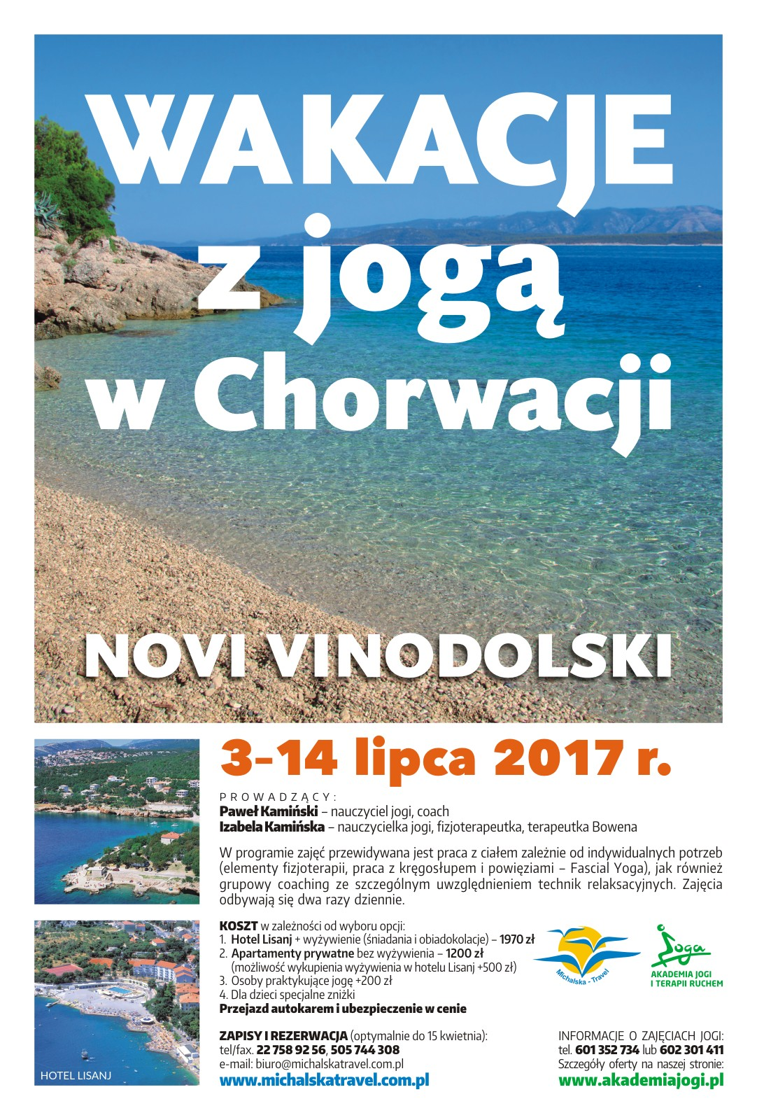 Wakacje z jogą w Chorwacji